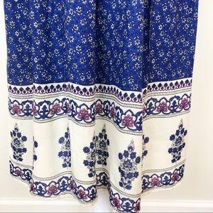 Zara Dresses - Zara floral blue peasant dress